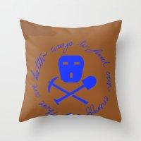 Coal Pirate Throw Pillow