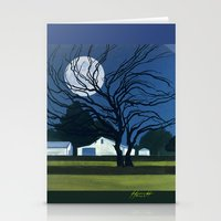 The Farm By Moonlight Stationery Cards