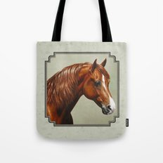 Chestnut Morgan Horse Tote Bag