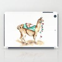 Watercolor Llama iPad Case