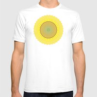 Spring Yellow Mens Fitted Tee White SMALL