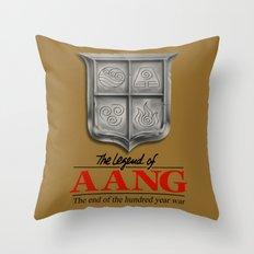 The legend of Aang Throw Pillow