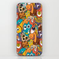 Weird Guys Pattern iPhone & iPod Skin