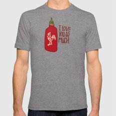 TRUE LOVE Mens Fitted Tee Tri-Grey SMALL