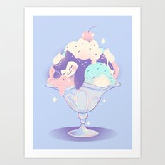 Sweet Tooth Sundae Art Print
