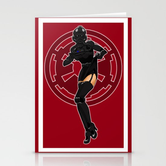 Star Wars TIE Fighter pinup Stationery Card
