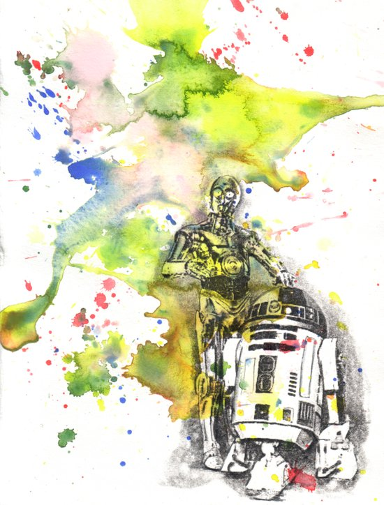 C3PO and R2D2 from Star Wars Canvas Print