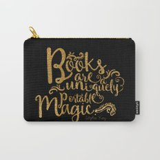 Books are a Uniquely Portable Magic Gold Carry-All Pouch