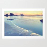 Faded Ocean Art Print