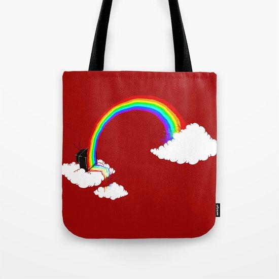 Rainbow TV Tote Bag