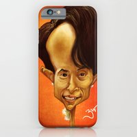 iPhone & iPod Case featuring Aung San Suu Kyi by Bharat KV