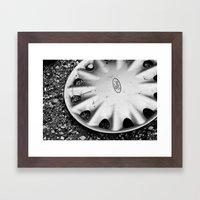 Hubcap B&W Framed Art Print
