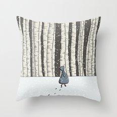 Forest Walk Throw Pillow