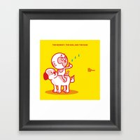 The Dog, The Monkey, And… Framed Art Print