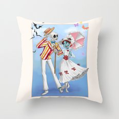A Jolly Nightmare Throw Pillow