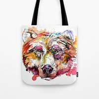 Vivid Grizzly Tote Bag