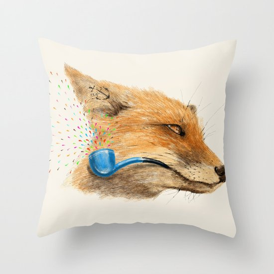 Fox V Throw Pillow