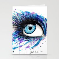 Open your eyes Stationery Cards