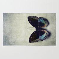 Vintage Butterfly 4 Rug