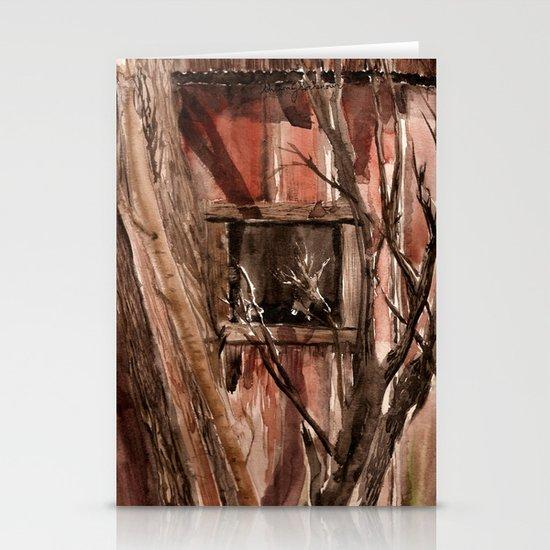 Barn window Stationery Card