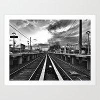 Returning Commute Art Print