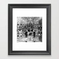 Summer space, smelting selves, simmer shimmers. 26, grayscale version Framed Art Print