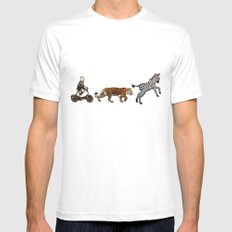 Circus Parade Mens Fitted Tee White SMALL