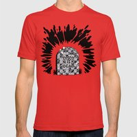 Disco Is Dead Mens Fitted Tee Red SMALL