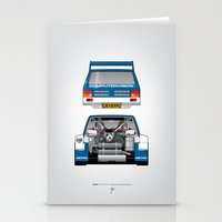 Outline Series N.º7, MG Metro 6R4, 1986 Stationery Cards