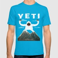Yeti Mens Fitted Tee Teal SMALL