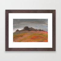 On the Crest of a Hill Framed Art Print