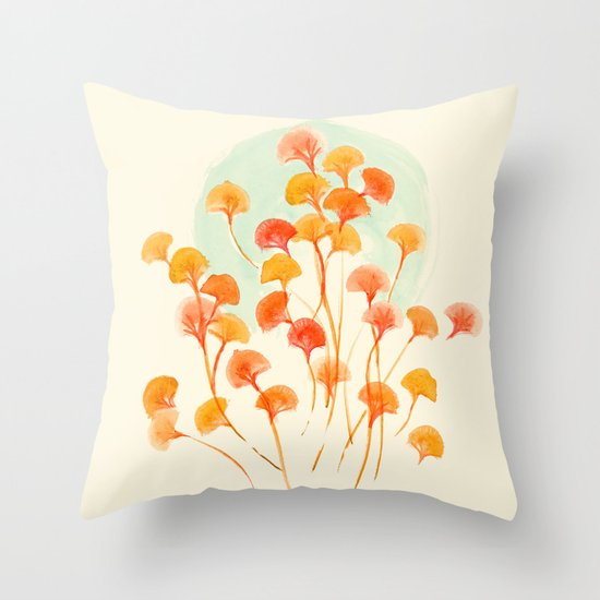 The bloom lasts forever Throw Pillow