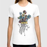 Bouquet - Skal Womens Fitted Tee White SMALL