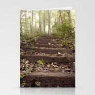 Stationery Cards featuring Stairs In The Woods by Bonnie Martin