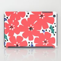 Big Red Flowers iPad Case