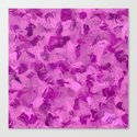 Pink camouflage Canvas Print