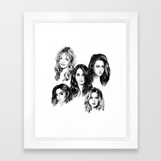 Pretty Little Liars Framed Art Print