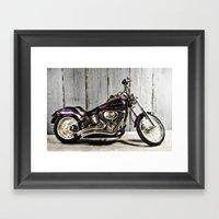 Purple Harley Softail Framed Art Print