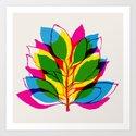 Blossom CMYK Art Print