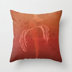 Dragon in red Throw Pillow