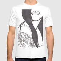 Girl With A Mermaid Tatt… Mens Fitted Tee White SMALL