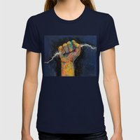 Lightning Womens Fitted Tee Navy SMALL