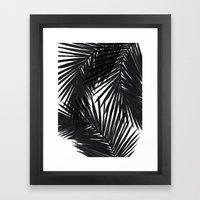 Palms Black Framed Art Print