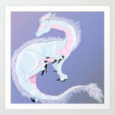 Pearl Dragon Art Print