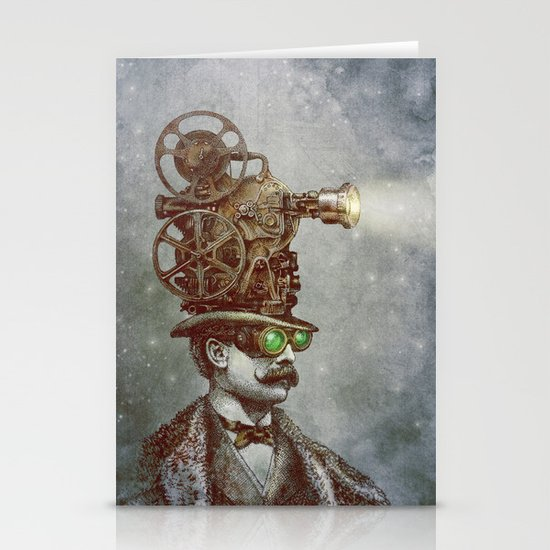 The Projectionist (colour option) Stationery Card