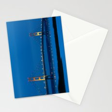 Mackinac Bridge at Blue Hour Stationery Cards