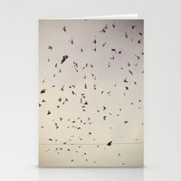 pigeon onslaught Stationery Cards
