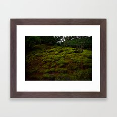 WINTER MOSS Framed Art Print