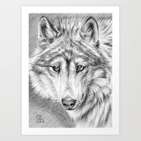 Tender Wolf Art Print