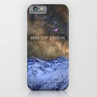 Never stop exploring mountains, space..... iPhone 6 Slim Case